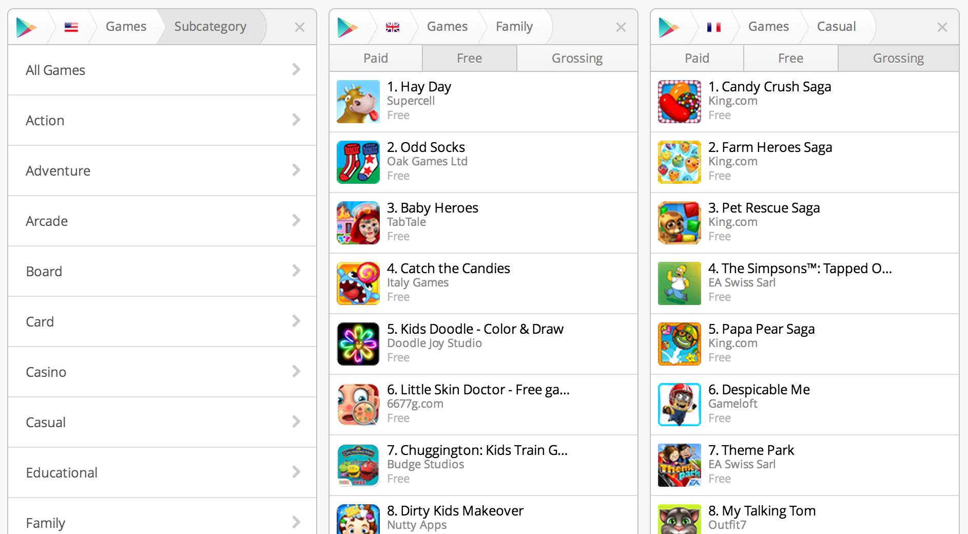 12 new game categories added to google play