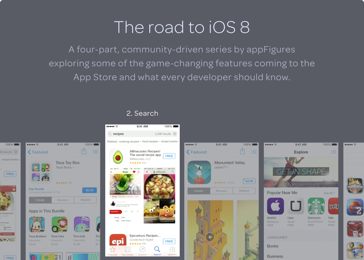 The Road To iOS8: Improved Search - by appFigures w/ Ouriel Ohayon