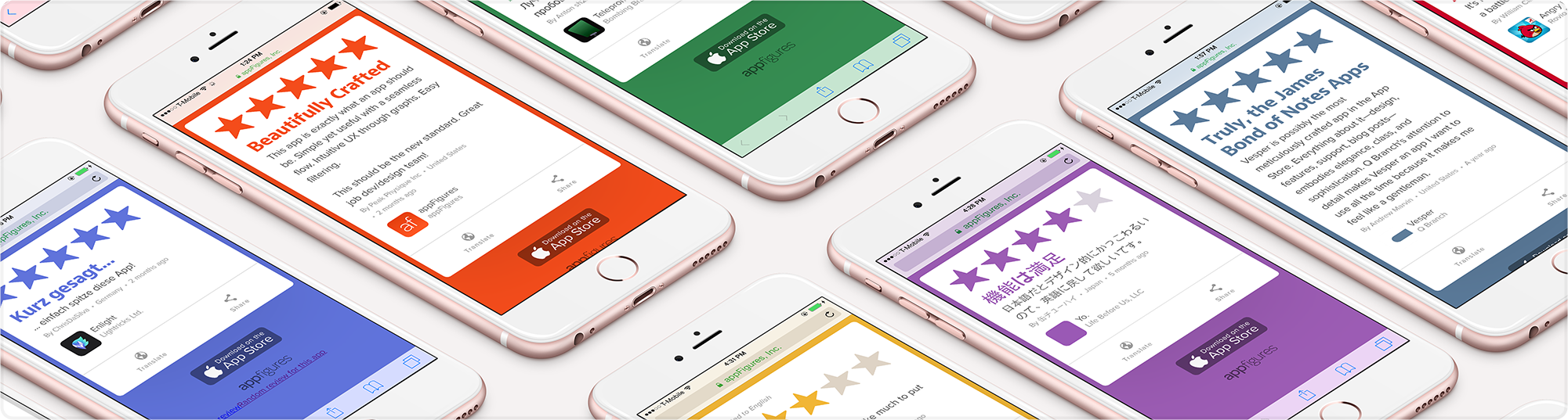 App store reviews are easy to share with Review Cards from appFigures