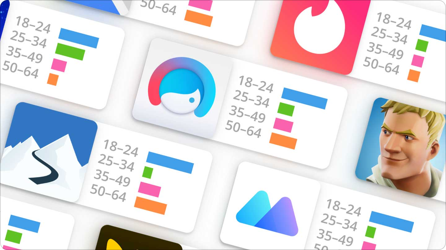 Age and Gender demographics for iOS and Android apps