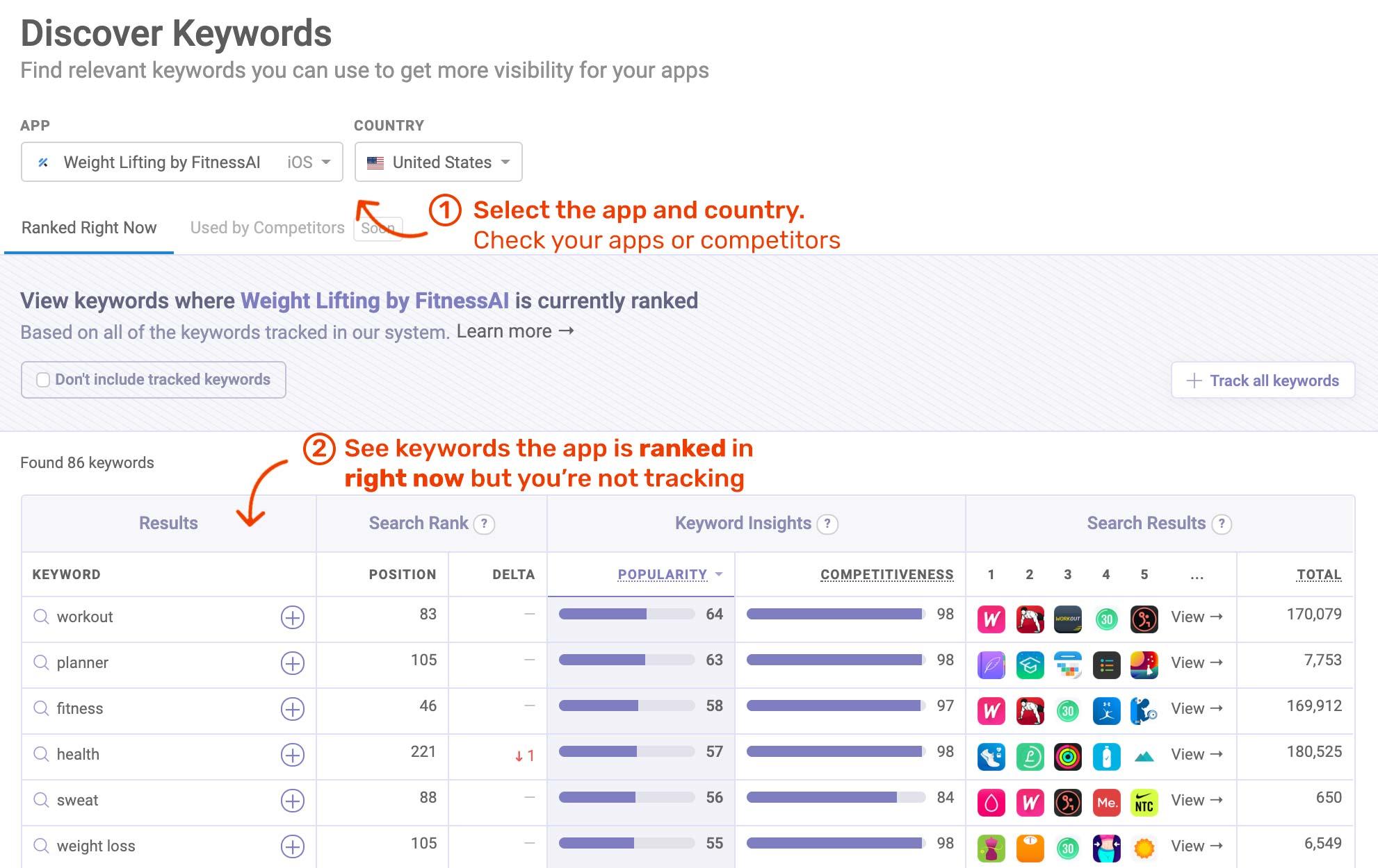 Keyword Tools for ASO