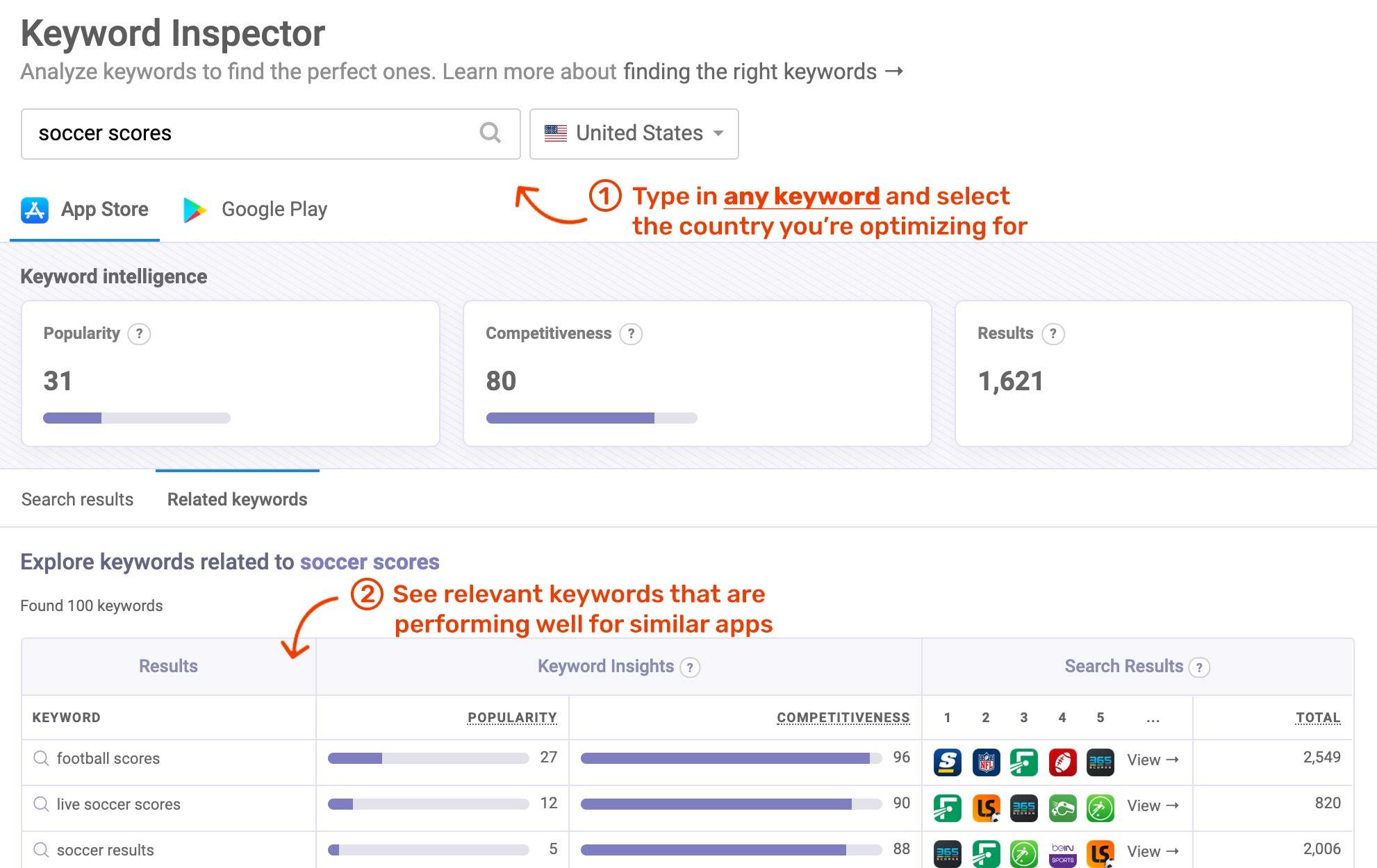 ASO keyword tools